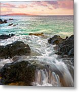 Sunrise Surge Metal Print by Mike  Dawson