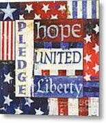 Usa Pride 1 Metal Print by Debbie DeWitt