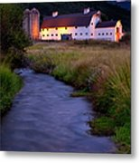 White Barn Metal Print by Brian Jannsen