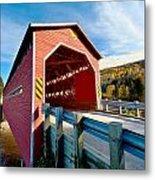 Wooden Covered Bridge  Metal Print by Ulrich Schade