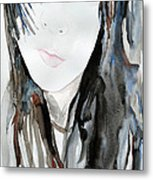Young Girl Metal Print by Ismeta Gruenwald