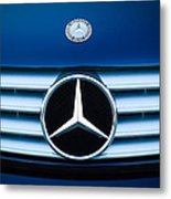 2003 Cl Mercedes Hood Ornament And Emblem Metal Print by Jill Reger
