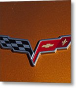 2007 Chevrolet Corvette Indy Pace Car Emblem Metal Print by Jill Reger