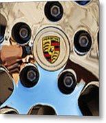 2010 Porsche Panamera Turbo Wheel Metal Print by Jill Reger