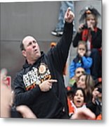 2012 San Francisco Giants World Series Champions Parade - Will The Thrill Clark - Dpp0006 Metal Print by Wingsdomain Art and Photography