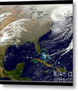2013 Blizzard In Northeast Nasa Metal Print by Rose Santuci-Sofranko