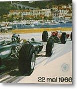 24th Monaco Grand Prix 1966 Metal Print by Georgia Fowler