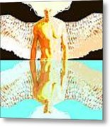 24x36 Reflective Angel Bb Metal Print by Dia T