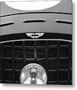 1952 Aston Martin Db3 Sports Hood Emblem Metal Print by Jill Reger