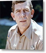 Andy Griffith In The Andy Griffith Show  Metal Print by Silver Screen