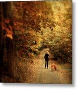 Autumn Stroll Metal Print by Jessica Jenney