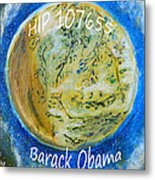 Barack Obama Star Metal Print by Augusta Stylianou