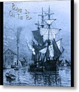 Blame It On The Rum Schooner Metal Print by John Stephens