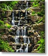 Cascading Waterfall Metal Print by Elena Elisseeva