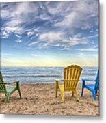 3 Chairs Metal Print by Scott Norris