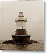 Old Orchard Lighthouse Metal Print by Skip Willits