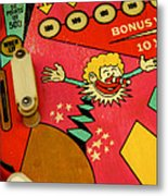 Pinball Machine Metal Print by Bernard Jaubert