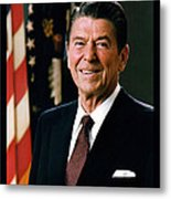 President Ronald Reagan Metal Print by Official White House Photograph