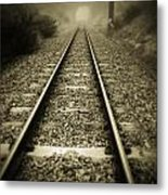 Railway Tracks Metal Print by Les Cunliffe