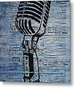 Shure 55s On Music Metal Print by William Cauthern