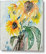 Sunflowers Metal Print by Ismeta Gruenwald