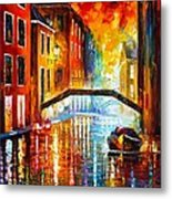 The Canals Of Venice Metal Print by Leonid Afremov
