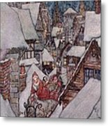 'the Night Before Christmas Metal Print by Arthur Rackham