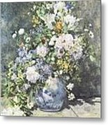 Vase Of Flowers Metal Print by Pierre-Auguste Renoir