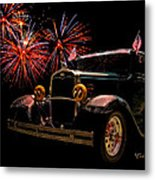 31 Five Window Coupe On The Fourth Of July Metal Print by Chas Sinklier