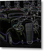 35 Ford Coupe Neon Glow Metal Print by Steve McKinzie