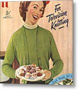1950s Uk Home Chat Magazine Cover Metal Print by The Advertising Archives