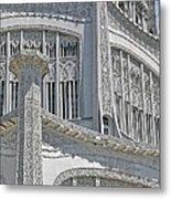 Bahai Temple Wilmette Metal Print by Rudy Umans