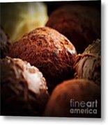 Chocolate Truffles Metal Print by Elena Elisseeva
