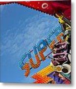 Colorful Fairground Ride Metal Print by Ken Biggs
