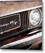 Dodge Challenger Rt Grille Emblem Metal Print by Jill Reger