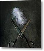 Feather Metal Print by Joana Kruse