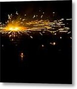Fireworks Metal Print by Akash Routh