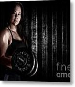 Fitness Model Metal Print by Jt PhotoDesign