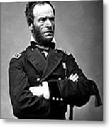 General William Tecumseh Sherman Metal Print by War Is Hell Store