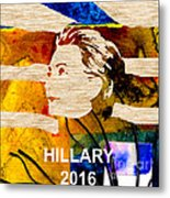 Hillary Clinton 2016 Metal Print by Marvin Blaine