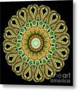 Kaleidoscope Ernst Haeckl Sea Life Series Metal Print by Amy Cicconi