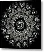 Kaleidoscope Ernst Haeckl Sea Life Series Black And White Set 2  Metal Print by Amy Cicconi