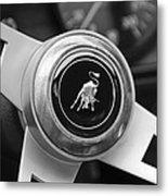 Lamborghini Steering Wheel Emblem Metal Print by Jill Reger