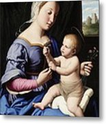 Madonna And Child Metal Print by Il Sassoferrato