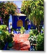 Majorelle Garden Marrakesh Morocco Metal Print by Ralph A  Ledergerber-Photography