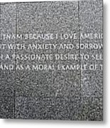 Martin Luther King Jr Memorial Metal Print by Allen Beatty