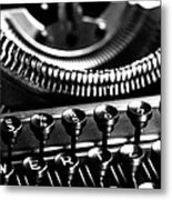 Typewriter Metal Print by Falko Follert