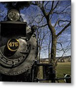 #475 Steam Engine On The Strasburg Rr 04 Metal Print by Mark Serfass
