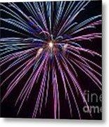 4th Of July 2014 Fireworks Bridgeport Hill Clarksburg Wv 1 Metal Print by Howard Tenke