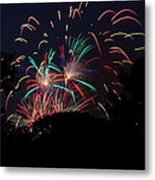 4th Of July Fireworks - 011310 Metal Print by DC Photographer